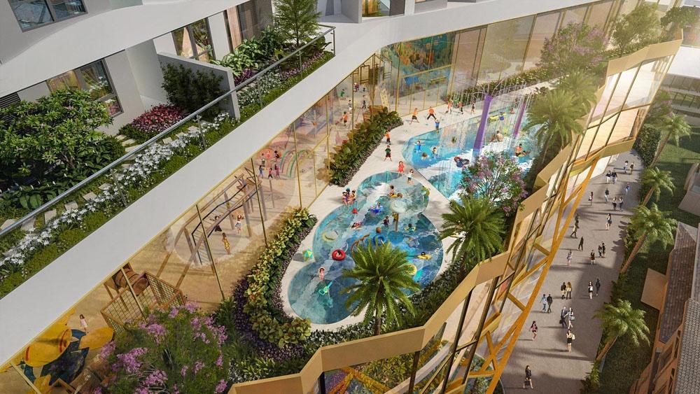 D-Homme là một trong những dự án hiếm hoi sở hữu hồ bơi điện phân đồng cao cấp tại Việt Nam